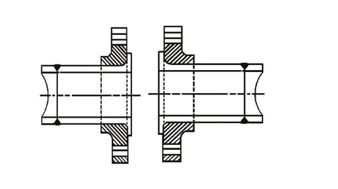 Coupling of stub ends and flanges